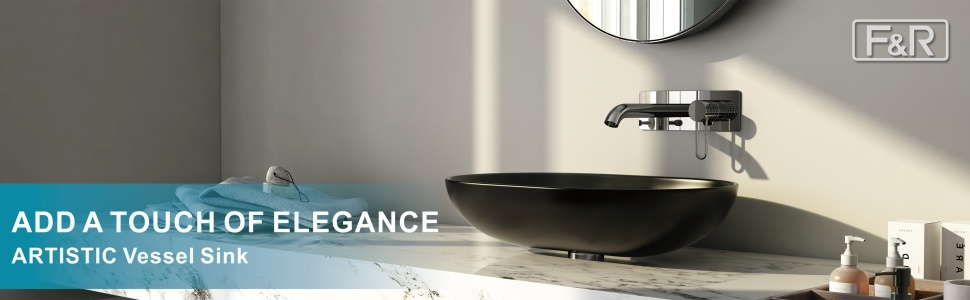 Dropship F R Glass Vessel Bathroom Sink Modern Tempered Glass Vessel Bowl Sink Bathroom Sink Tempered Black Glass Vessel Top Mount Bathroom Sinks Above Counter To Sell Online At A Lower Price