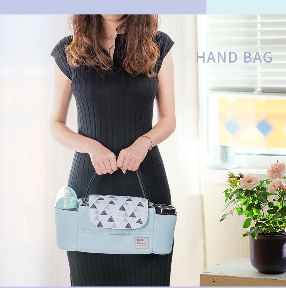 Dropship portátil bolsa de pañales cochecito organizador bolsa de pañales de bebé de alta capacidad bolsa de maternidad para el cuidado del bebé para mamá