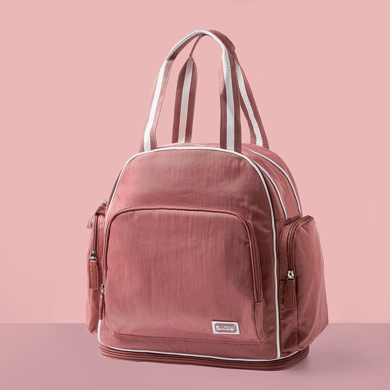 Dropship Sunveno Fashion Baby Bag Brand Stroller Bag Maternidad Bolsa de pañales Mochila de viaje de gran capacidad para mamá Bolsa Maternidade