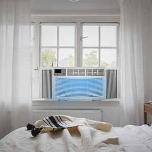 dropship Aeroplus Window air conditioner 8000 BTU, Window AC-Cooling, Dehumidifier, Fan with Remote Control, 3 Speeds, Auto/Eco/Sleep Mode, Energy Saving, 24-Hour Timer, Installation Easy, Ideal for Bedroom, L