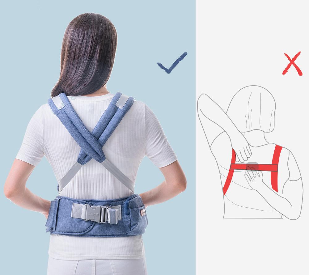 Dropship SUNVENO, portabebés ergonómico, portabebés para la cintura, asiento de cadera para bebés, portabebés ergonómico de canguro frontal para viajes de bebé 0-36M