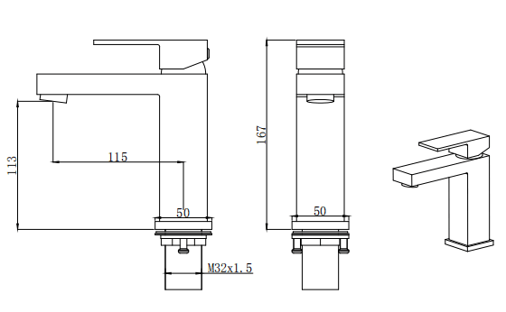 dropship RBROHANT Grifos de baño de una manija de color negro mate para grifos de lavabo de latón con un solo orificio o tres orificios con placa de cubierta de 6 pulgadas RBF65003MBP