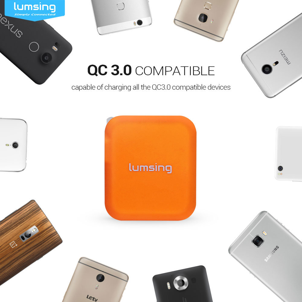shop for quick charge 3 0  lumsing 24w dual usb wall charger with qc3 0 port for galaxy s7  s6 Samsung Galaxy Tab 7.7 Wi-Fi Samsung Galaxy Legend Manual