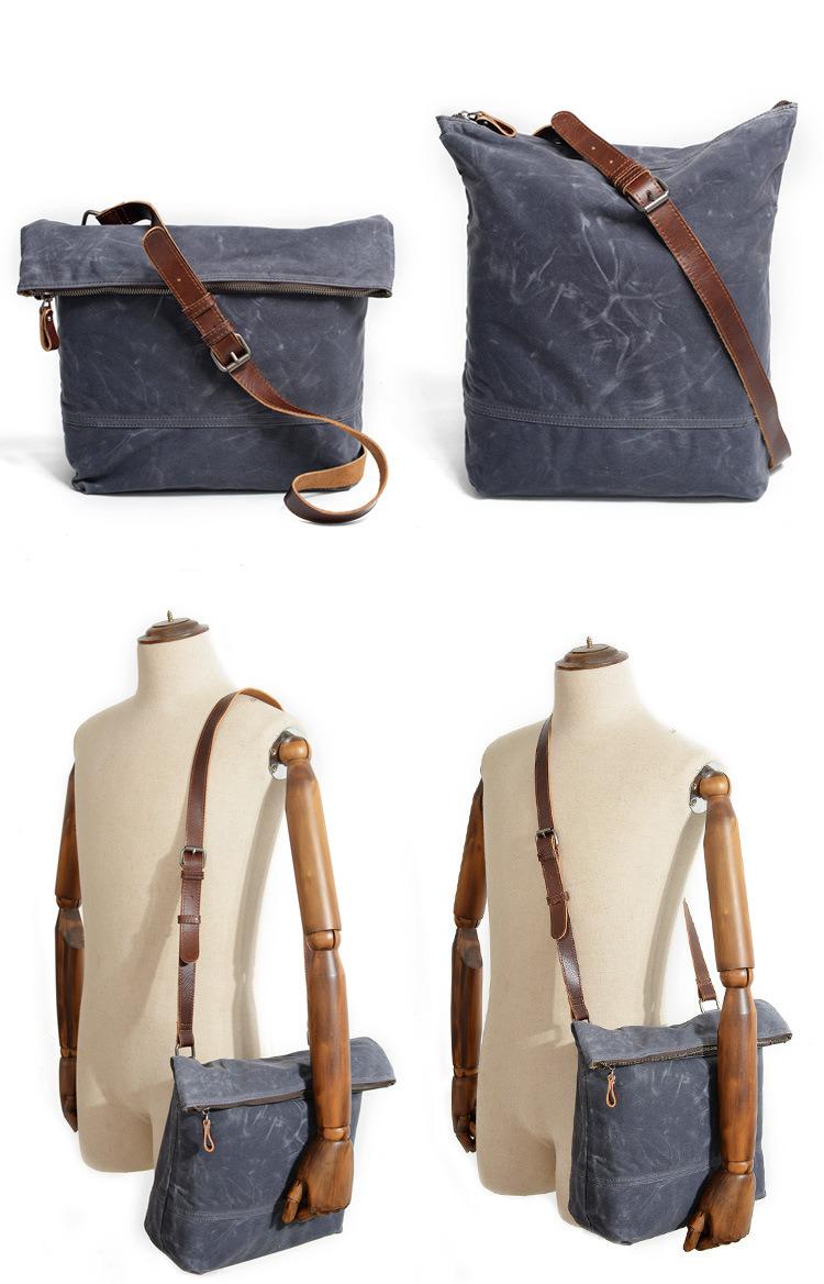 bc0ed37e0c0d Style  Retro canvas handbag for men and women. Material  pure cotton canvas.  Color  Grey