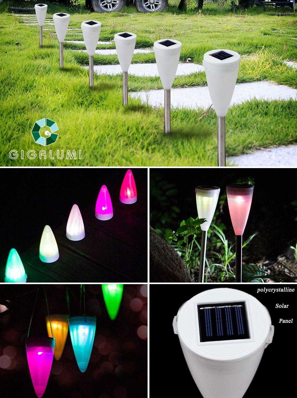 shop for gigalumi color changing solar lights outdoor garden led light landscape pathway. Black Bedroom Furniture Sets. Home Design Ideas
