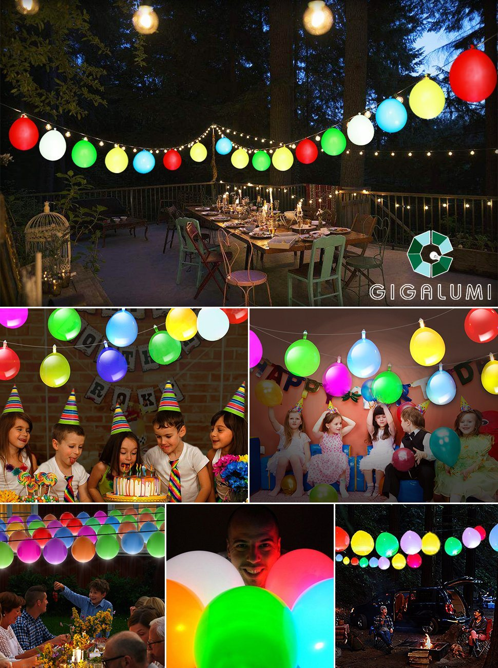 Shop for led light up balloons string lights premium for Balloon string decorations