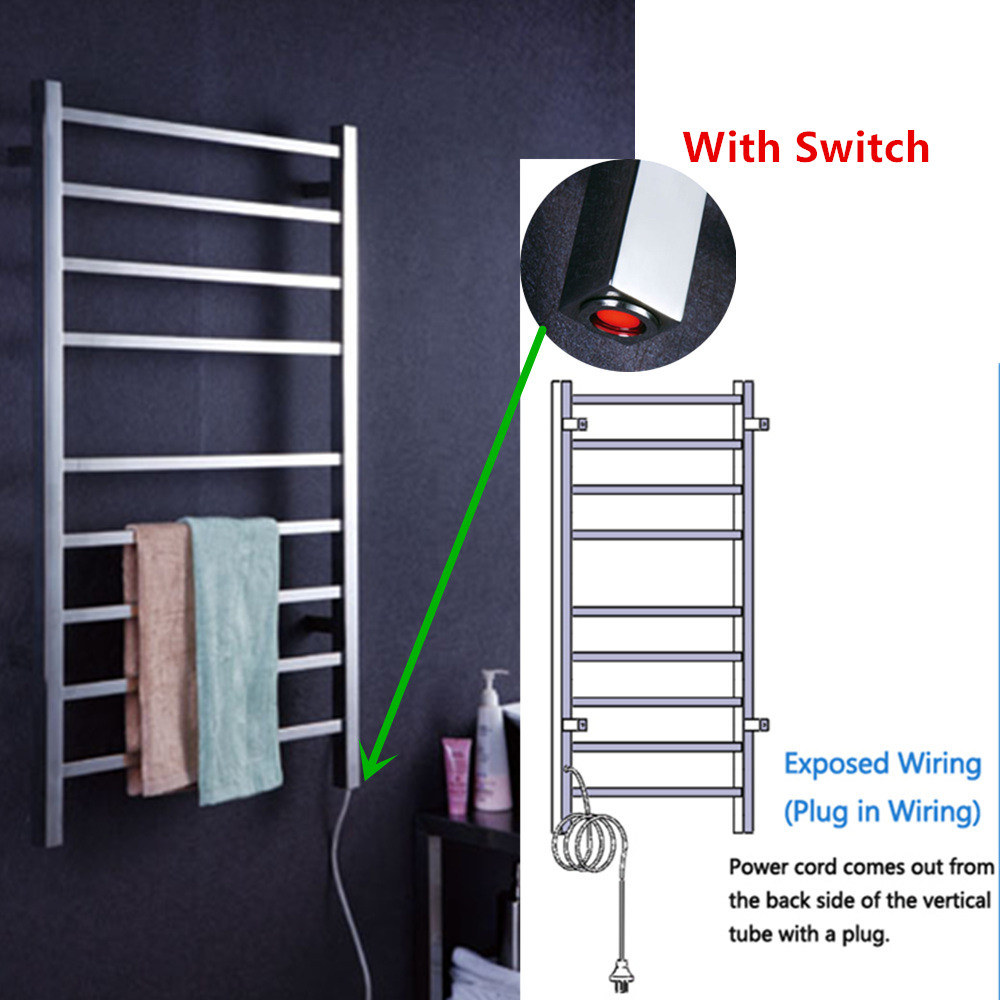 Shop For Square Tube Style Towel Racks Stainless Steel