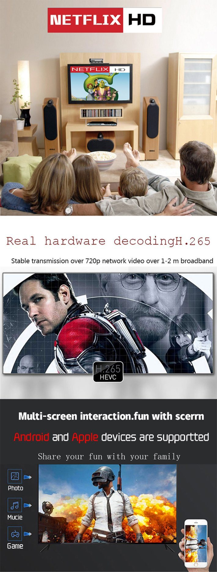 Shop for H96 Max+ Android IPTV Box RK3328 Quad Core with 4GB 32GB