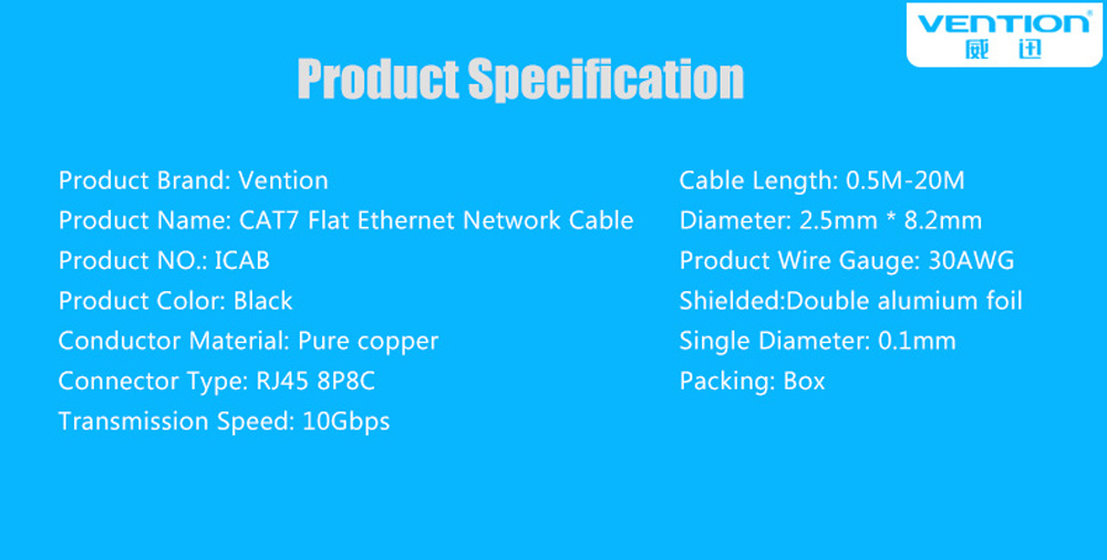 Shop for Ethernet Cable 3ft, VENTION Cat7 RJ45 Network Patch Cable ...