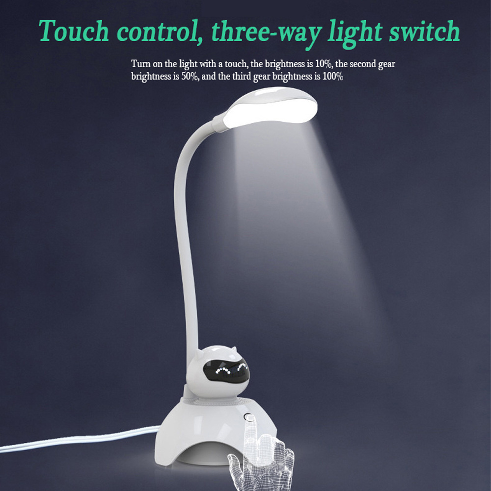 3) Humanized Design, Creative Light Lie. Silicon Hose Can Be Adjusted 360  Degrees; 4) Touch Control, Three Way Light Switch; 5) Luminous Even Without  Flash.