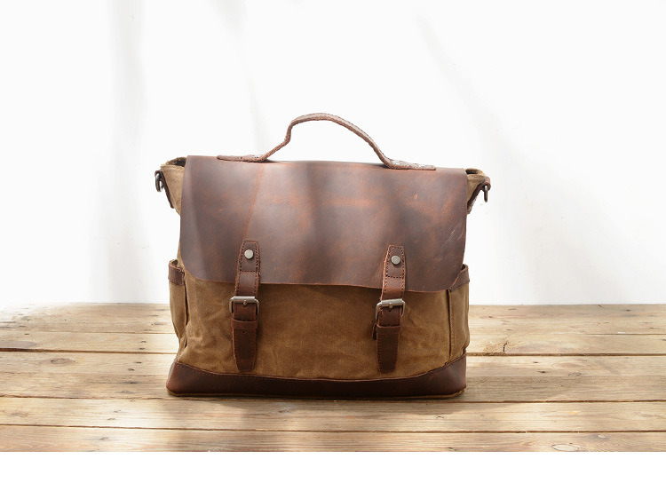 093dbd9a22 top grade italian crazy horse leather a fashionable vintage leather ...