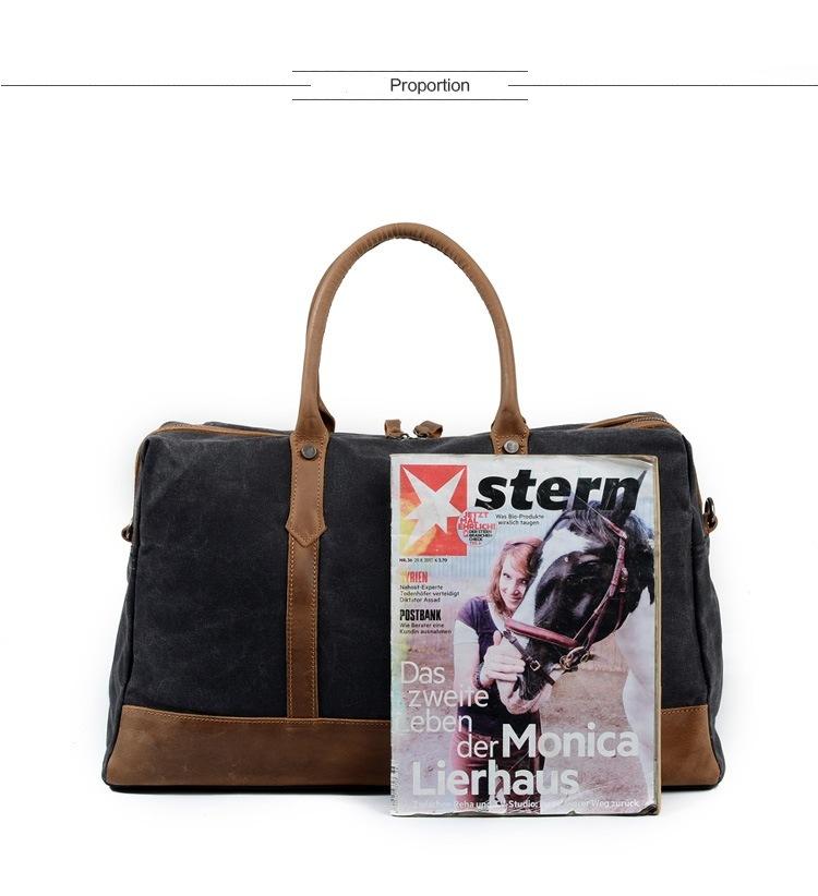 55a23bd01a3a REDSWAN Weekend Bag Weekender Overnight Bag Canvas Vintage Travel Duffle  for Men or Women 1 Bag / Bag