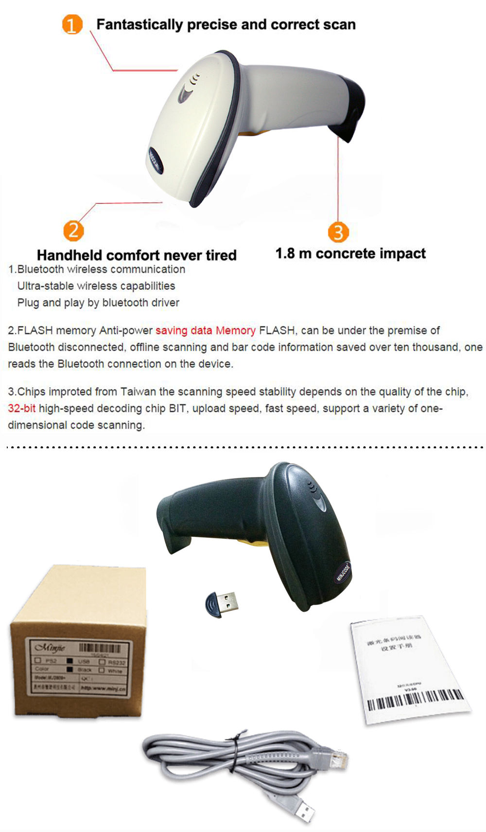 shop for best quality 1d reader factory supply bluetooth wireless barcode scanner pharmacode. Black Bedroom Furniture Sets. Home Design Ideas