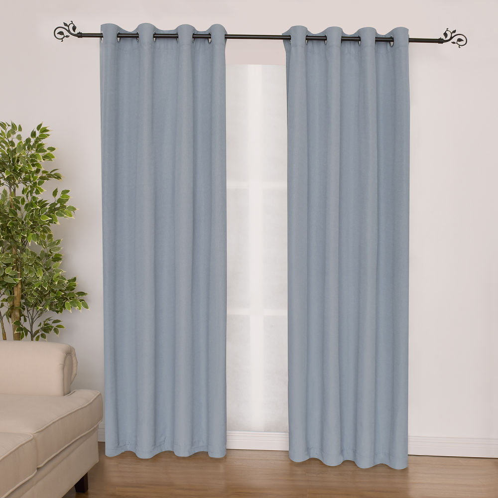 Shop for Polyester Slub Jacqaurd Gromets Window Curtain Panel at ...