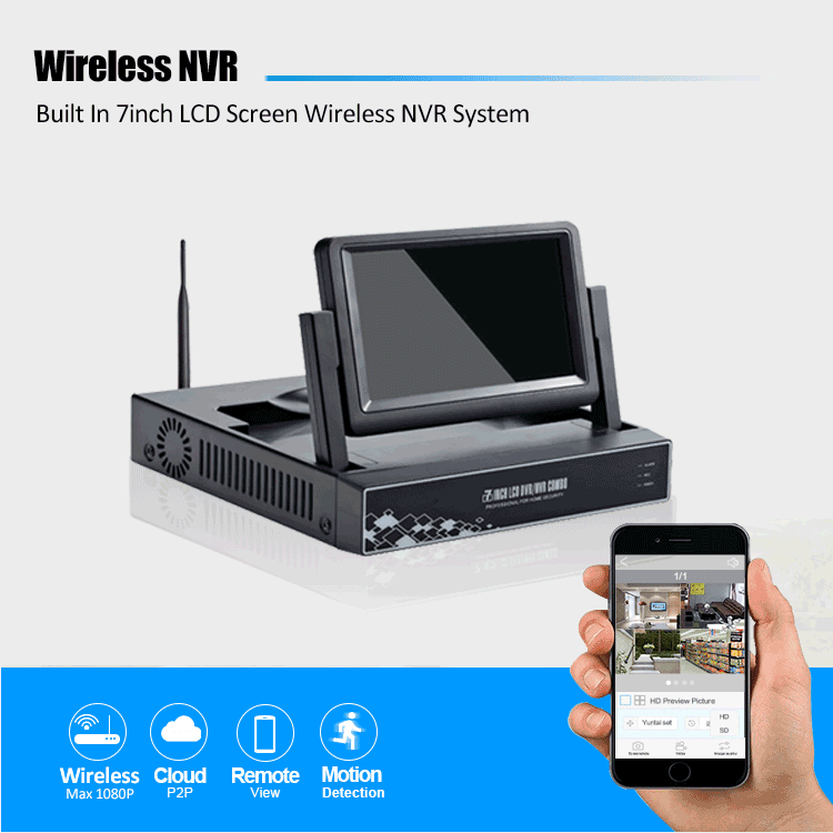 Shop for Wireless 2 4G WIFI P2P 7inch LCD NVR at Wholesale Price on
