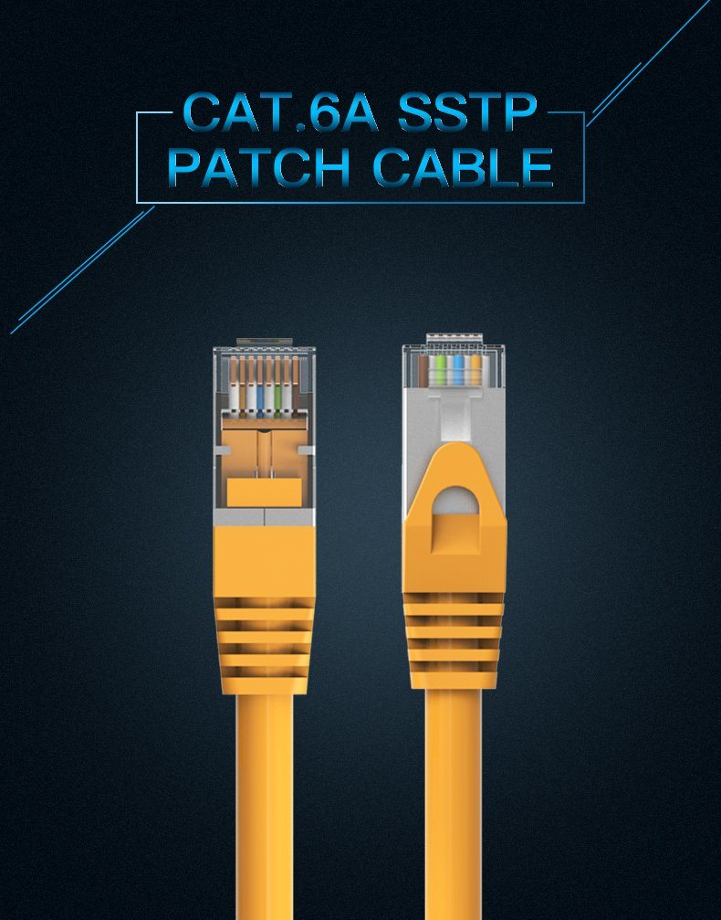 Shop For Vention Ethernet Cable Cat6 Gigabit High Speed Cat 6 Rj45 Wiring Diagram The Shield Name Cat6a Sstp Patch Interface Type Transmission 1gbps Conductor Material Bc Shell Metal Shielding