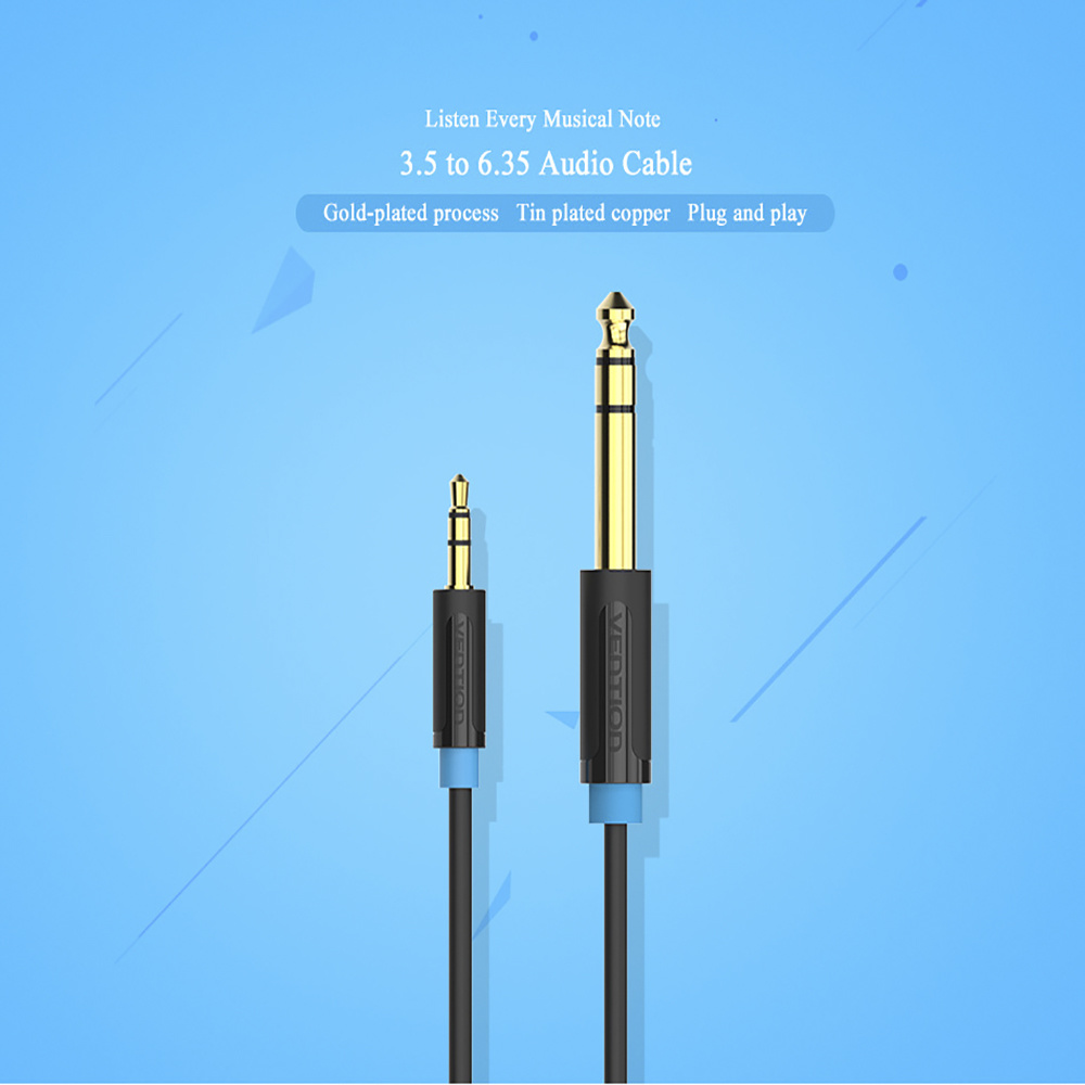 Shop for VENTION 3.5mm to 6.35mm Adapter Jack Audio Cable for Mixer ...