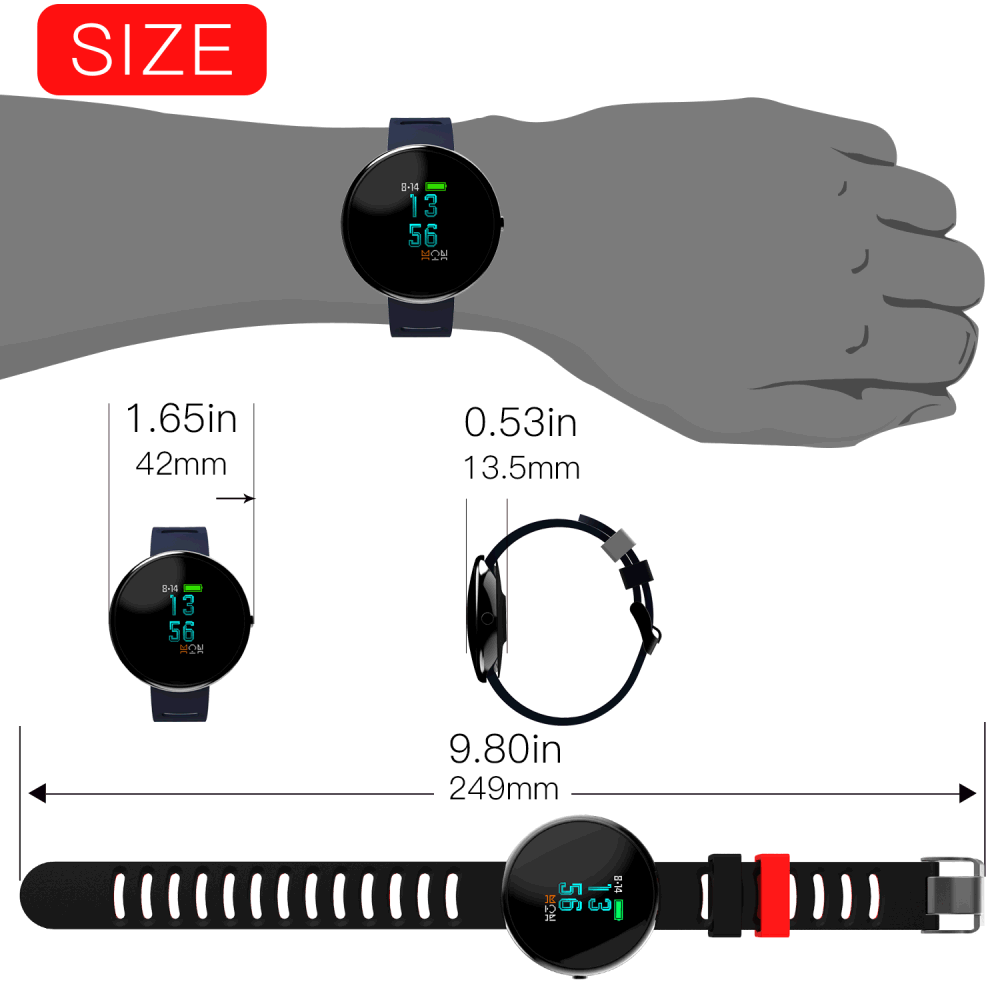 Shop For Cyboris Fitness Tracker With 096 25d Arc Oled Colourful Xiaomi 042ampquot Screen Mi Band 2 Smart Wristband Replace Black Note Not Support Screensaver Brightness Adjustment Light Sensor Range Gps Usb Interface Display Lamp Ultraviolet Index Detection