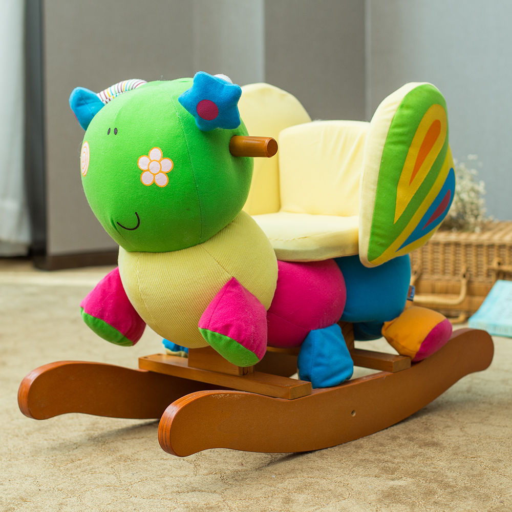 shop for labebe wooden baby rocking horse ride on toys butterfly at wholesale price on. Black Bedroom Furniture Sets. Home Design Ideas