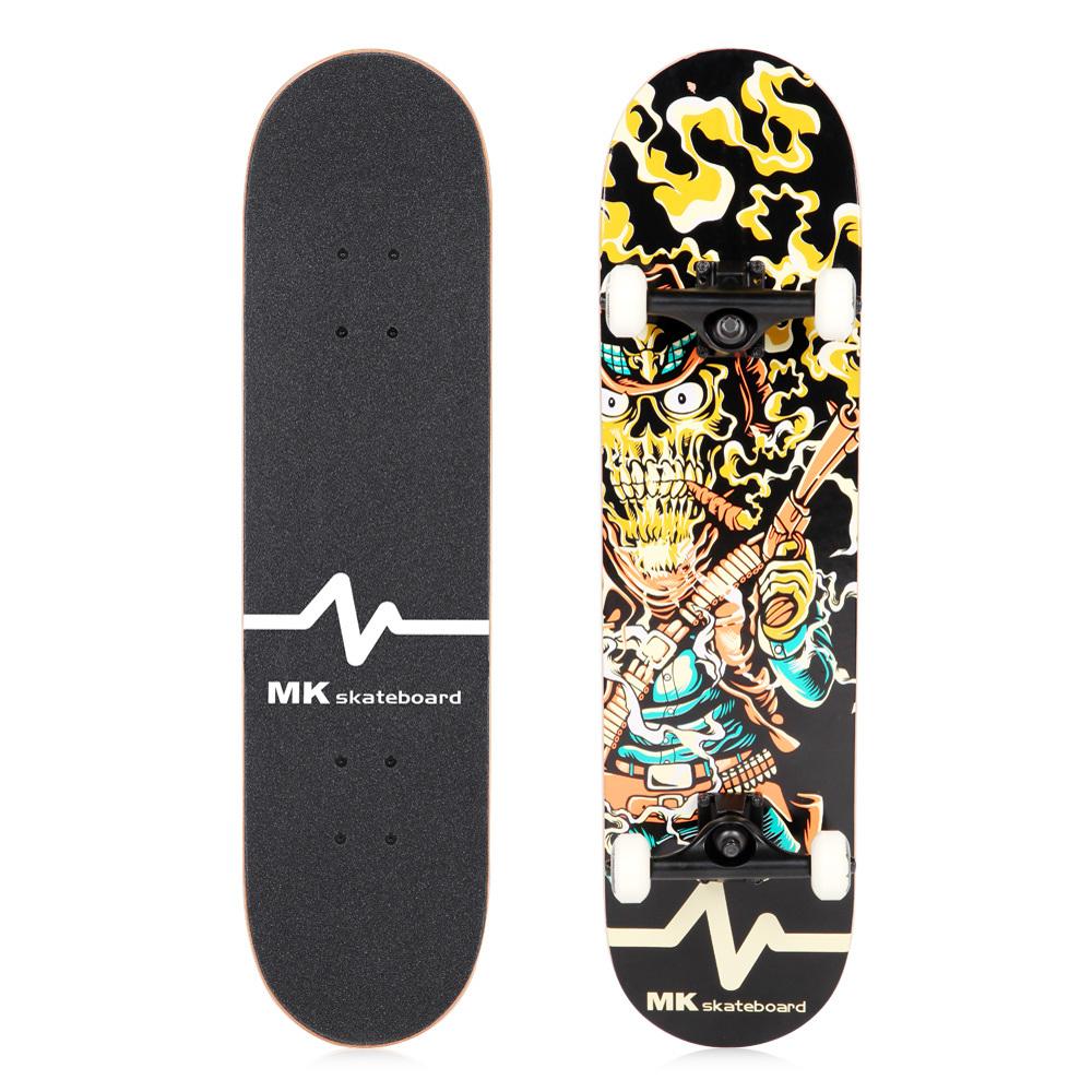Shop for MK Skateboard War Maple Wood 31x8\u0026quot; Custom Bamboo Skateboard Decks Electric Skateboard
