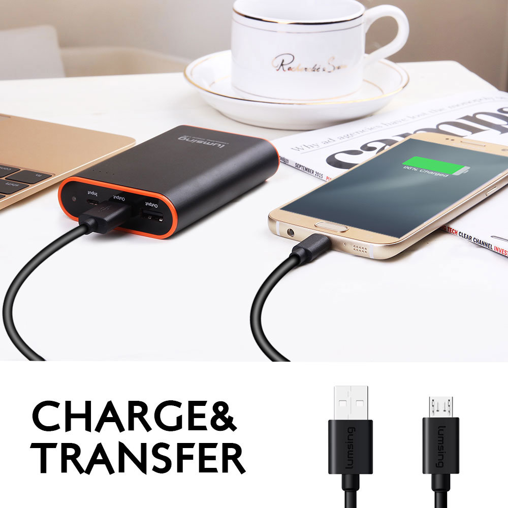 Shop For Lumsing Micro Usb 3ft Premium Android Cable High Speed Charger Hp And All Other Connecting Devices From Brands Including Samsung Htc Motorola Nexus Nokia Lg Sony Blackberry Many More Package
