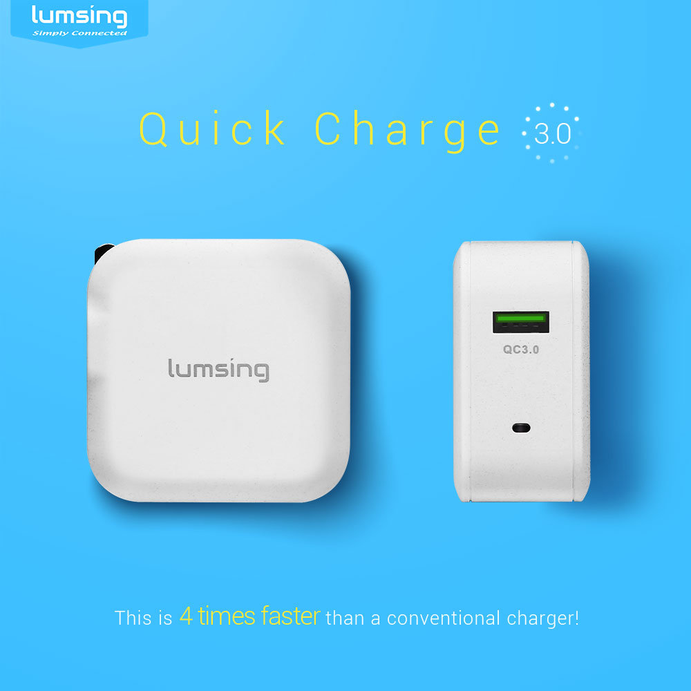 shop for quick charge 3 0  lumsing 18w qc3 0 usb wall charger  quick charge 2 0 compatible  for For Samsung Galaxy Verizon For Samsung Galaxy Verizon