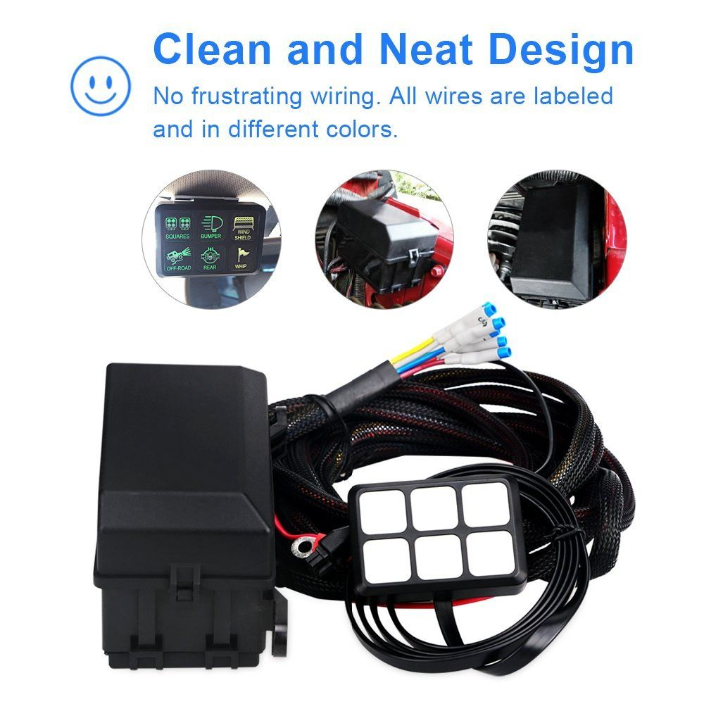 Universal Relay Fuse Box Auxiliary Distribution Shop For Universally Gang Switch Panel Electronic System 1000x1000