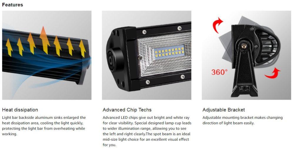 Shop for LED Light Bar DOT Approved Tri-Row 30