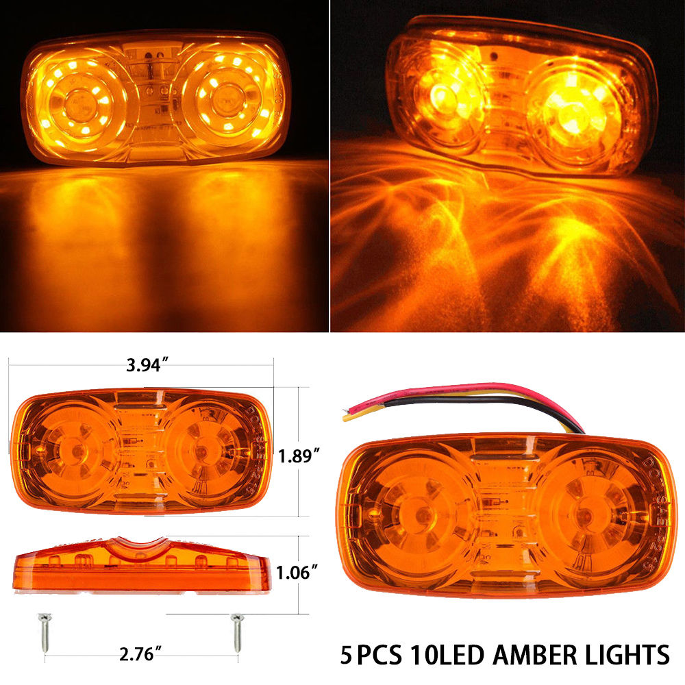 Shop for Auto Lighting Amber Clearance Double Bullseye 10 Diodes LED