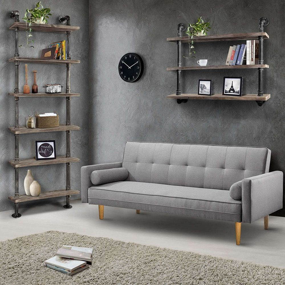 Shop For 3 Level Rustic Industrial DIY Pipe Shelf Storage Wall