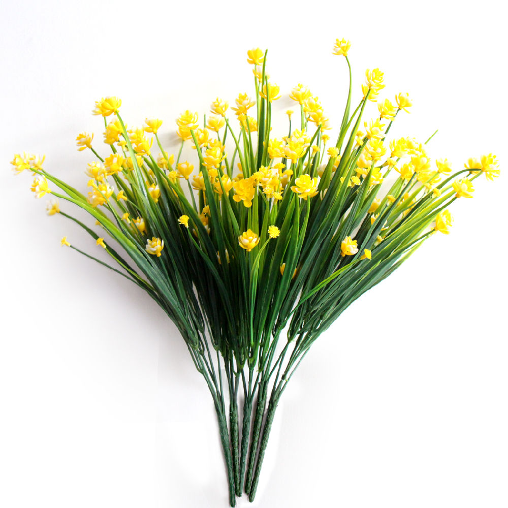 Shop For Iceyun 5pcs Plastic Artificial Flowers Yellow Daffodils At