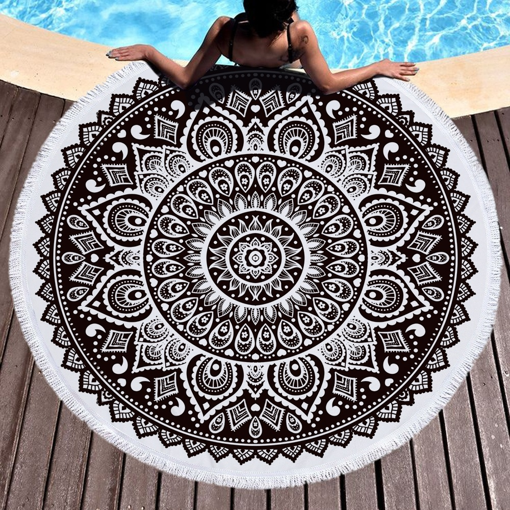 Shop For Microfber Round Beach Towel JY001 At Wholesale