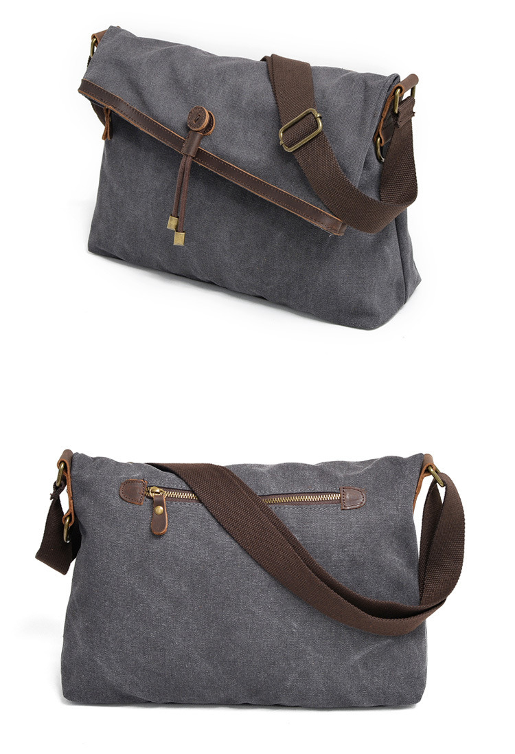 737fecfc33b0 Made of cotton canvas and Genuine Cow leather, The backpack feels more soft  and skin-friendly. - Made of high-quality cotton canvas, matching with  retro ...