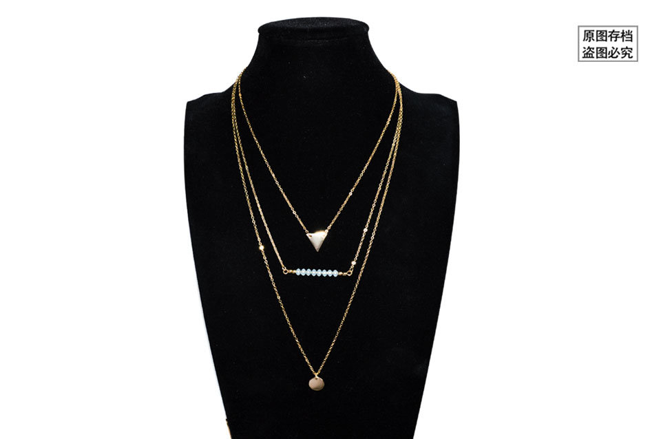 604fbf0d1521f Shop for Leiiy Stylish Gold Plated Link Chain Multilayer Choker ...