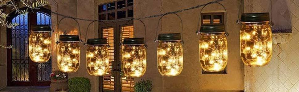 Gigalumi Solar Mason Jar Lights A Beautiful Scenery Line For Your Yard Garden Or Patio