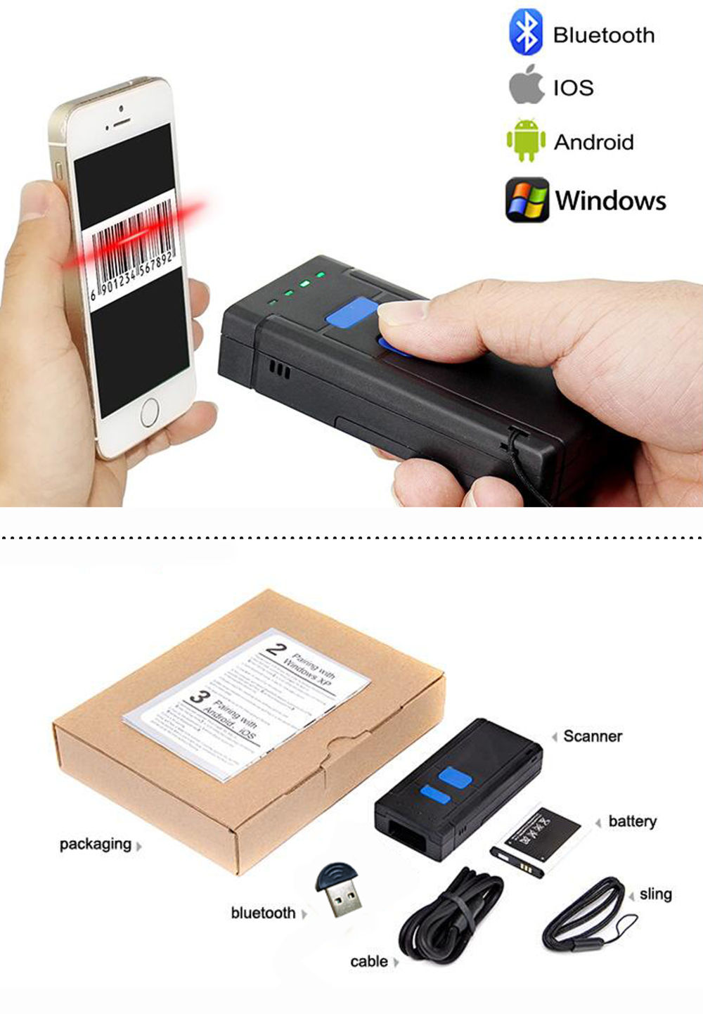 Shop for 1D Portable CCD Red Light Wireless Bluetooth