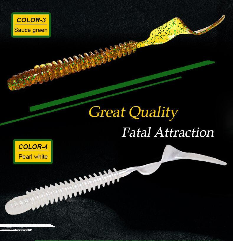 10 5cm Soft Worm Fishing Lure Fishint Bait Soft Lure Lures Fishing Tackles  8 Pieces / Bag