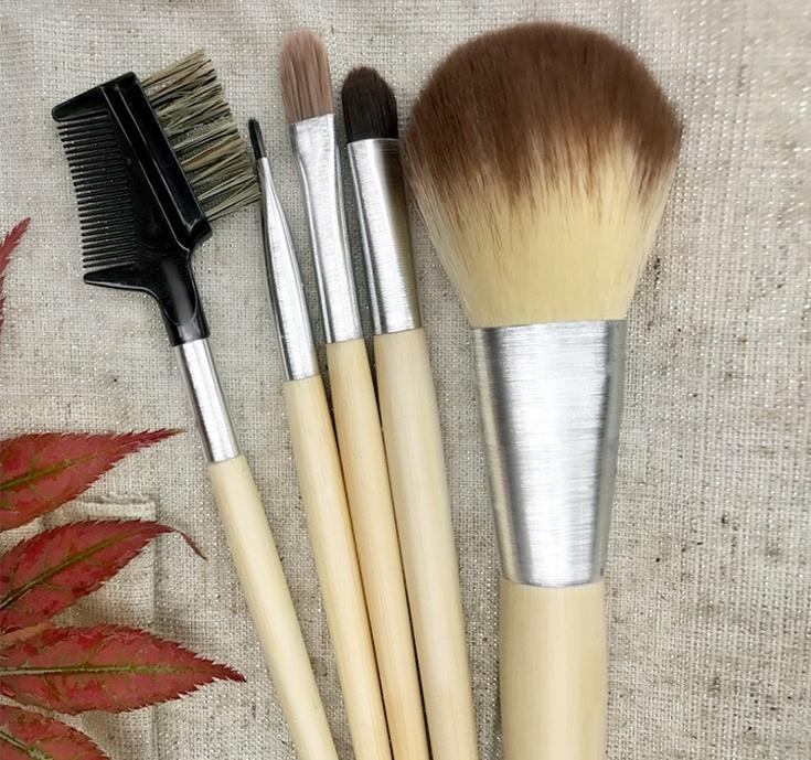 Shop for 5pcs Eco-friendly Bamboo Makeup Brush Set at