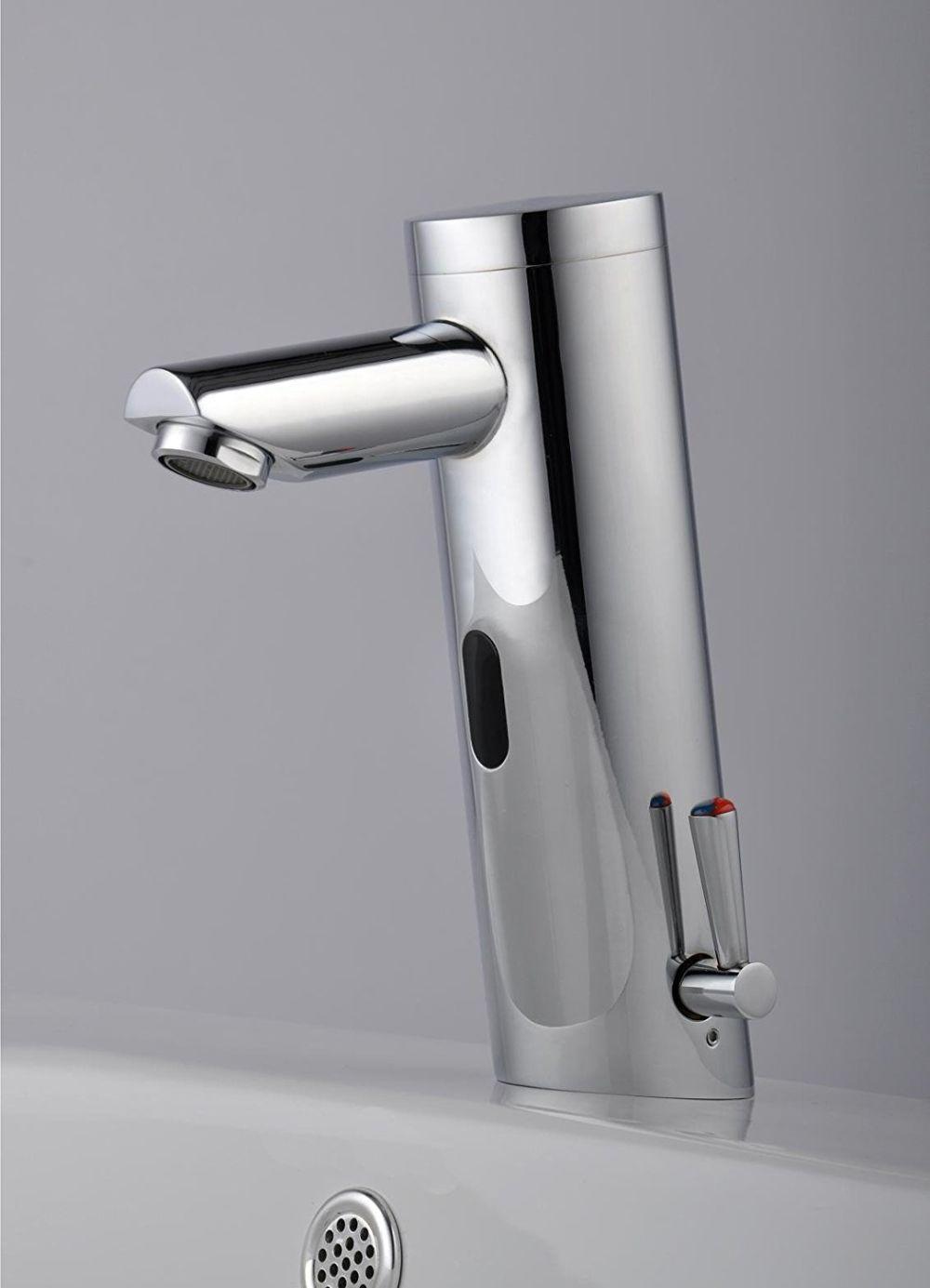 Shop for Home Deck Mount Touch Free Automatic Sensor Sink Faucet ...