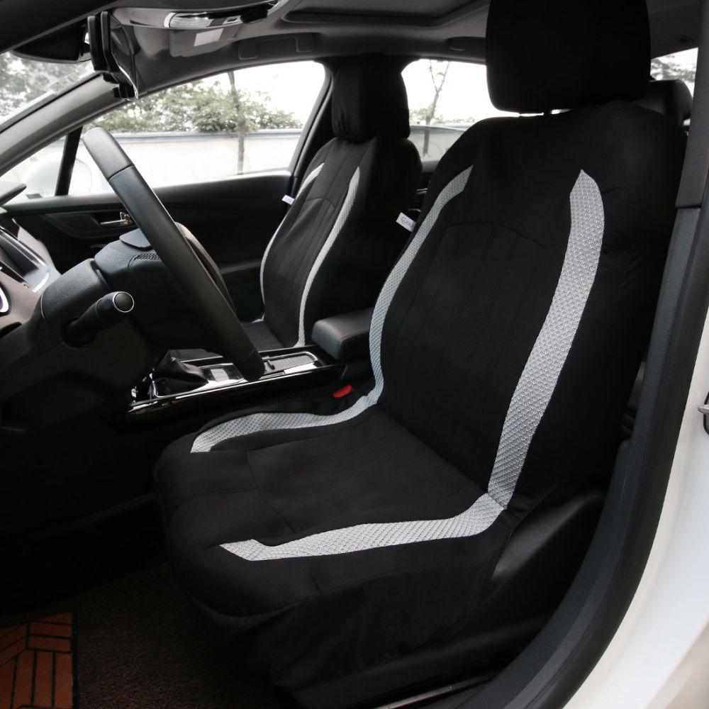 Shop For 8pcs Car Seat Covers Set Black Amp Gray Airbag