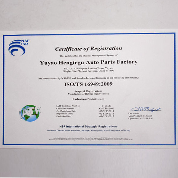 Shop for Auto Parts SAE J30r9 FKM Eco Ar Eco Rubber Hose for Diesel
