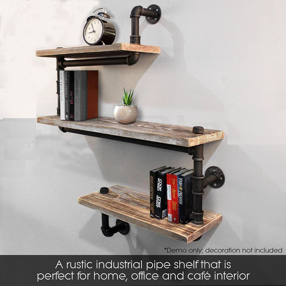 shop for industrial pipe shelving bookshelf rustic modern. Black Bedroom Furniture Sets. Home Design Ideas