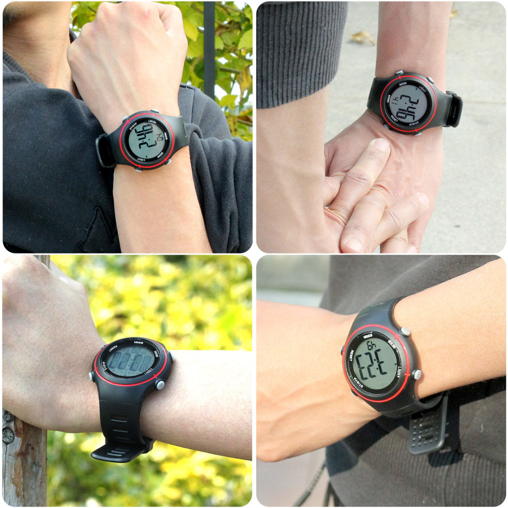 Shop For Ezon Digital Watch Heart Rate Monitor With Alarm Photo Of A Showing Chest Strap And Details