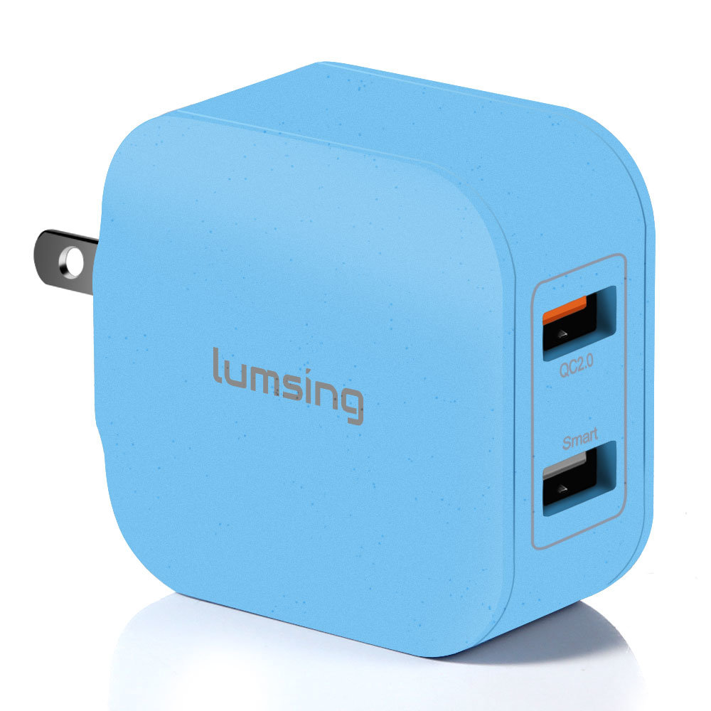 shop for lumsing quick charge 2 port wall charger  20w qc2 0 dual usb port travel charger for Samsung Galaxy S Verizon Samsung Galaxy Nexus For Dummies