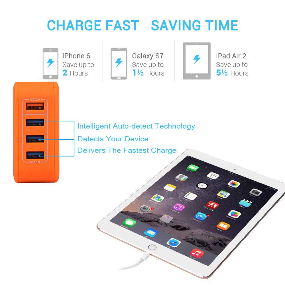 shop for lumsing quick charge 2 0 multi port usb wall charger 25w charging station dock  1 port motorola razr v3 user manual motorola z3 user manual