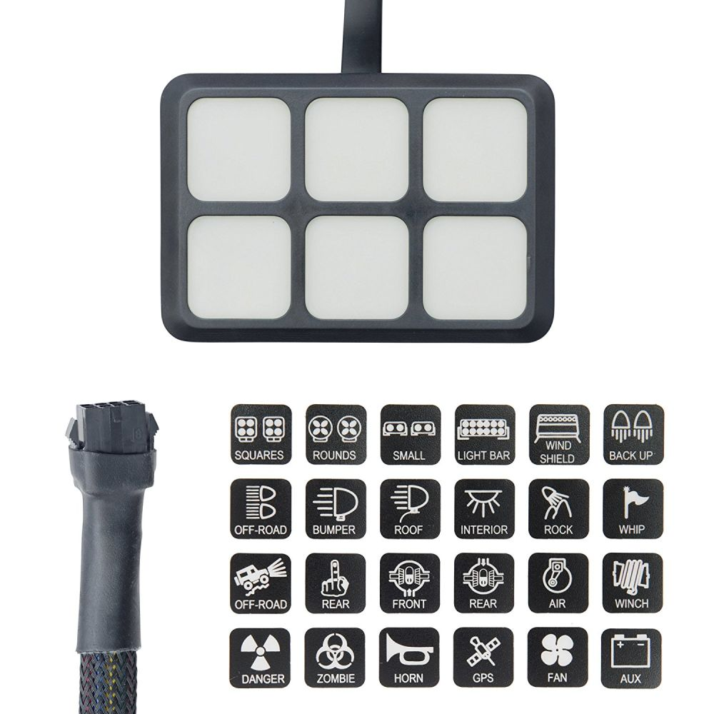 Shop For Universally 6 Gang Switch Panel Electronic Relay System Waterproof Fuse Box 24 Stickers 2 Screws Mounting Bracket Tape 3 And Har 4 Self Locking Cable Tie Terminals Quick Splice