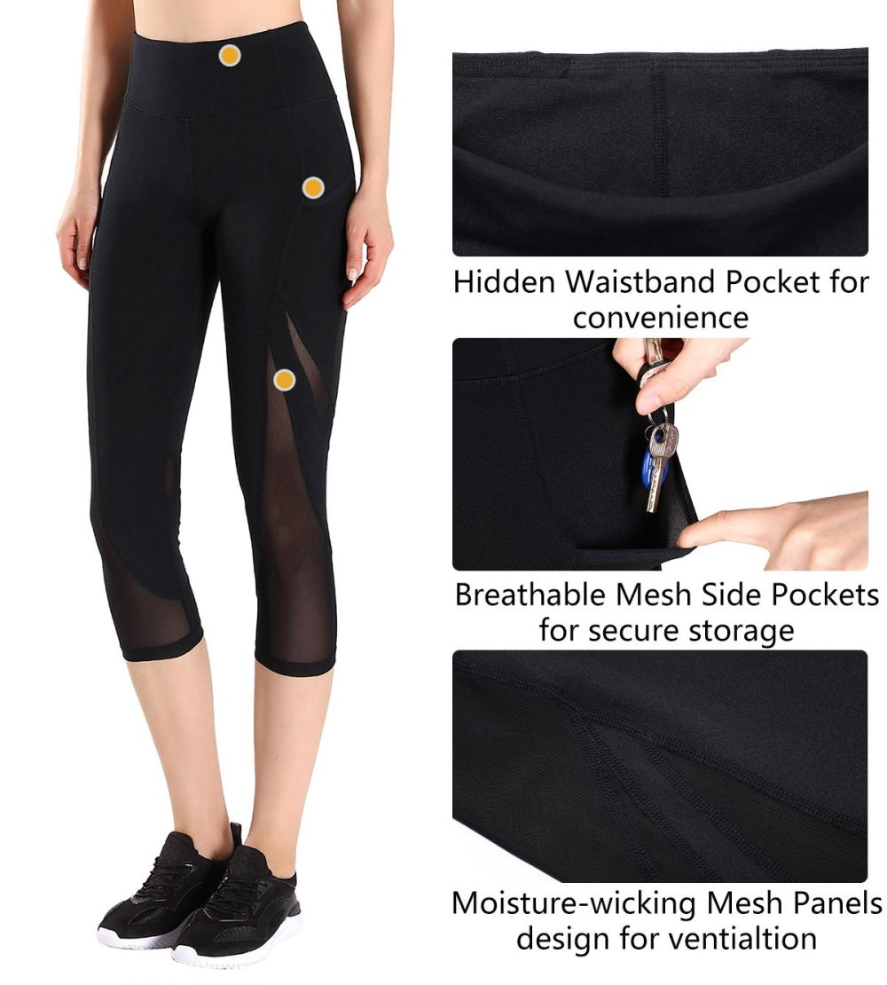 5d9dddb5e78b8e Have Interlocking Mesh Splice Patchwork & Mesh Panels design for  ventialtion. - Stretchy & Breathable & Moisture Wicking fabric to soak up  sweat easily and ...