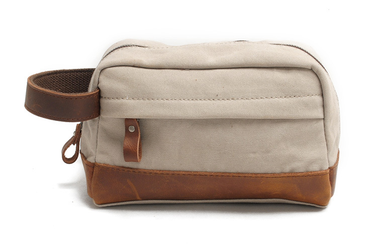 a955c92ee16a Shop for Redswan Vintage Leather Trim Canvas Toiletry Bag Shaving ...