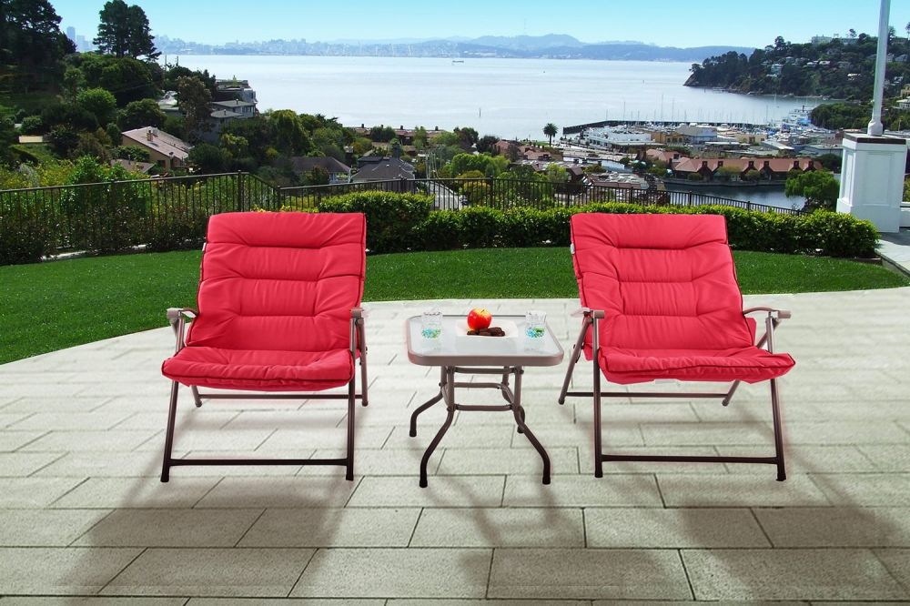 Shop For Phi Villa Patio 3 Pc Soft Padded Folding Chair