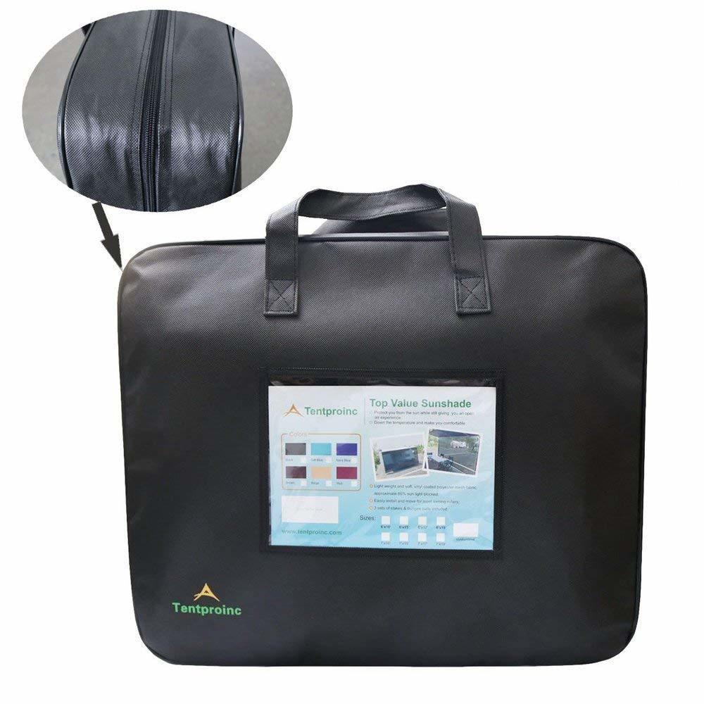 Tentproinc RV Awning Sunshade 8X93 3 Years Limited Warranty Black Mesh Screen Sun Shade Complete Kits Camping Trailer SunBlocker